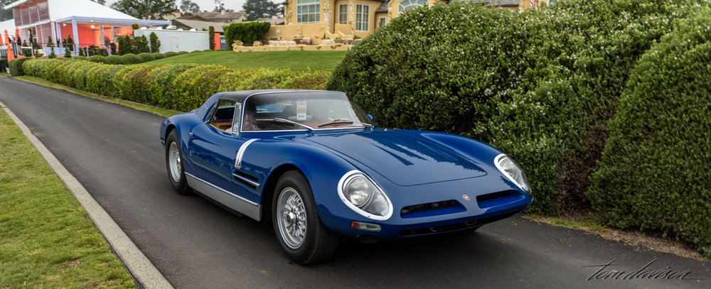 One of the featured marques, this is a Bizzarrini.  Many of these low production Italian models were made strictly for racing in their day. They were acquired by collectors and restored for street driving.