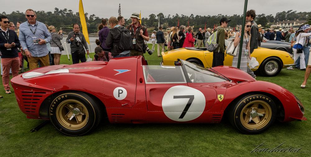 A racing Ferrari.