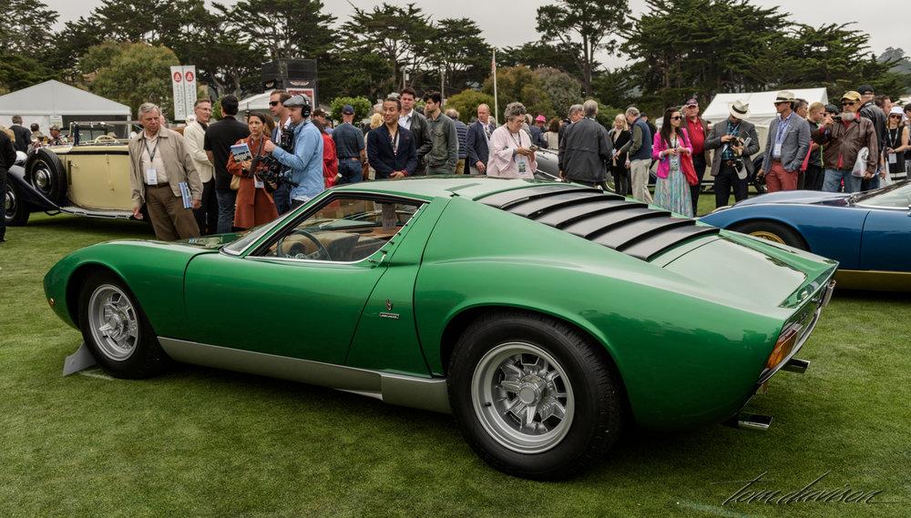 A 1967 Lamborghini Miura.