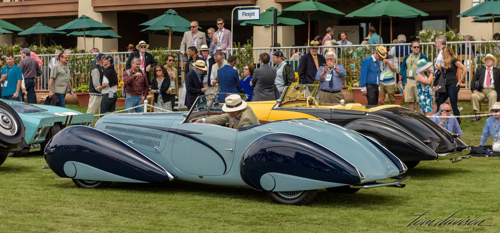 A Chabron bodied Delahaye parked in the awards line!