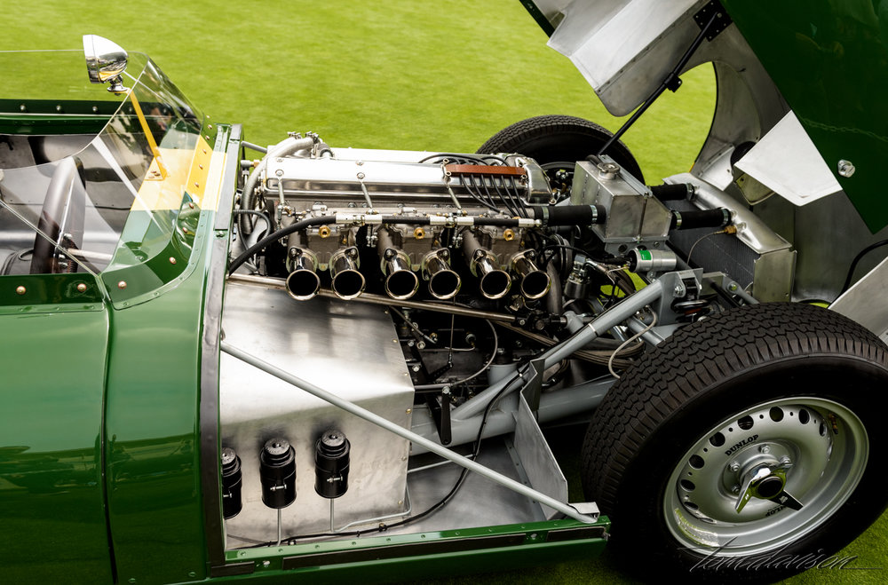 Engine from car above.