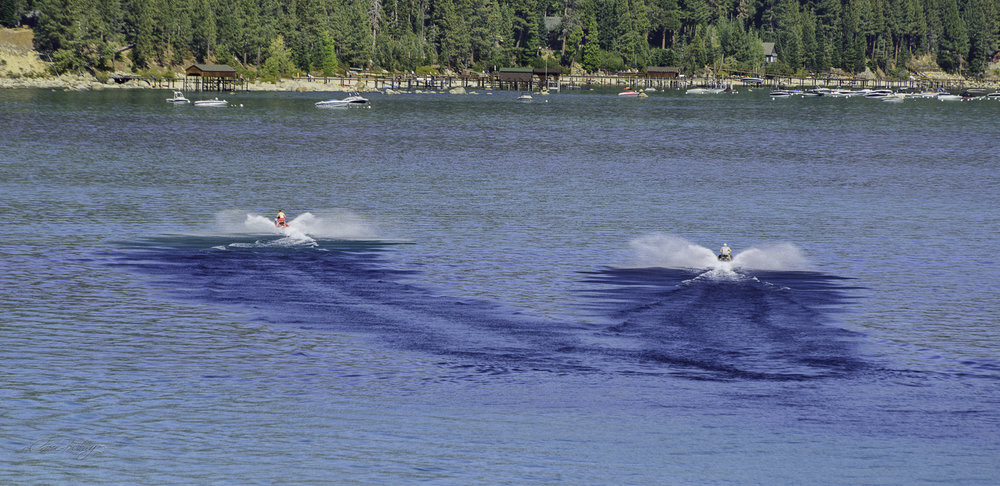 Two is better than one.  Maybe these are Tahoe wakes!