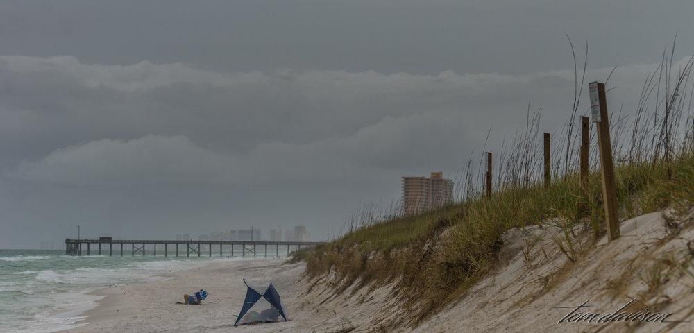 Beach die-hards!