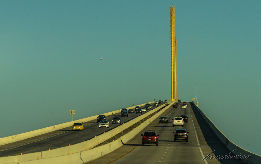 We kept driving over the Sunshine Bridge. It became a major focus of photographic planning!! More on that next time.
