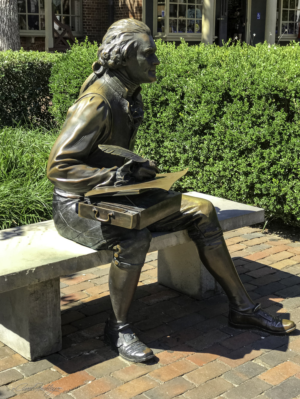 Thomas Jefferson is a common subject for statues in just about any town in Virginia.
