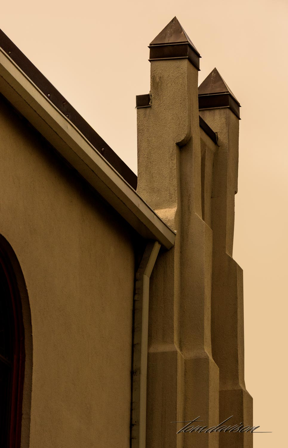 Detail from Christ Episcopal Church built in 1830.
