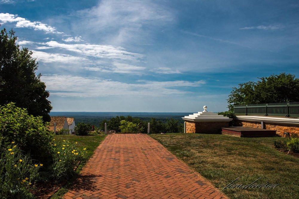 Looking off into the distance from the hill that was leveled to build Monticello.