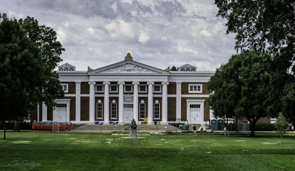 Old Cabell Hall is also undergoing renovation.  It was completed in 1898.  The building includes an auditorium with incredible acoustics.  It is used for concerts, lectures and other public events.