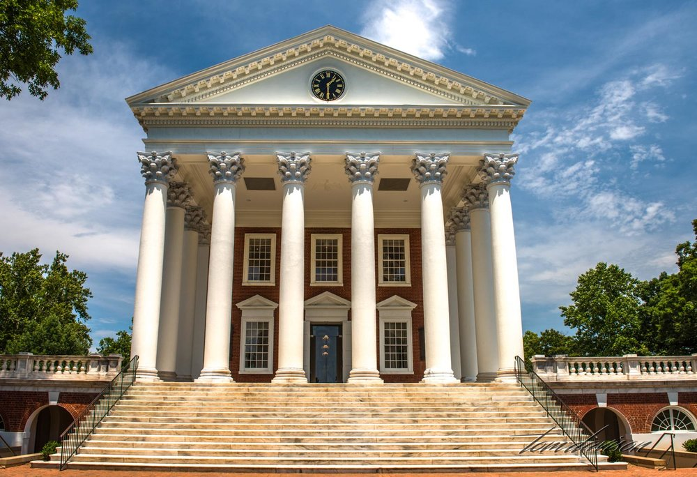 Originally the Rotunda served as the Library.  It is the most recognizable symbol of the University.