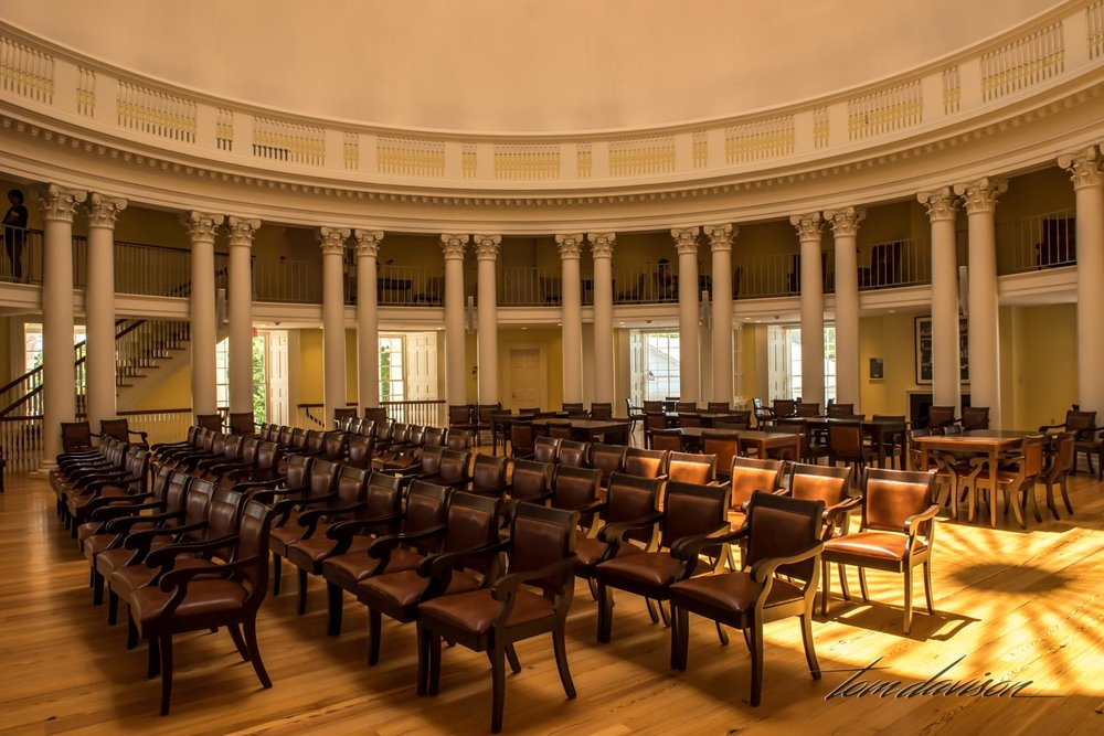 Today the Rotunda houses large meeting spaces like this one and smaller conference rooms as shown in the photo above.