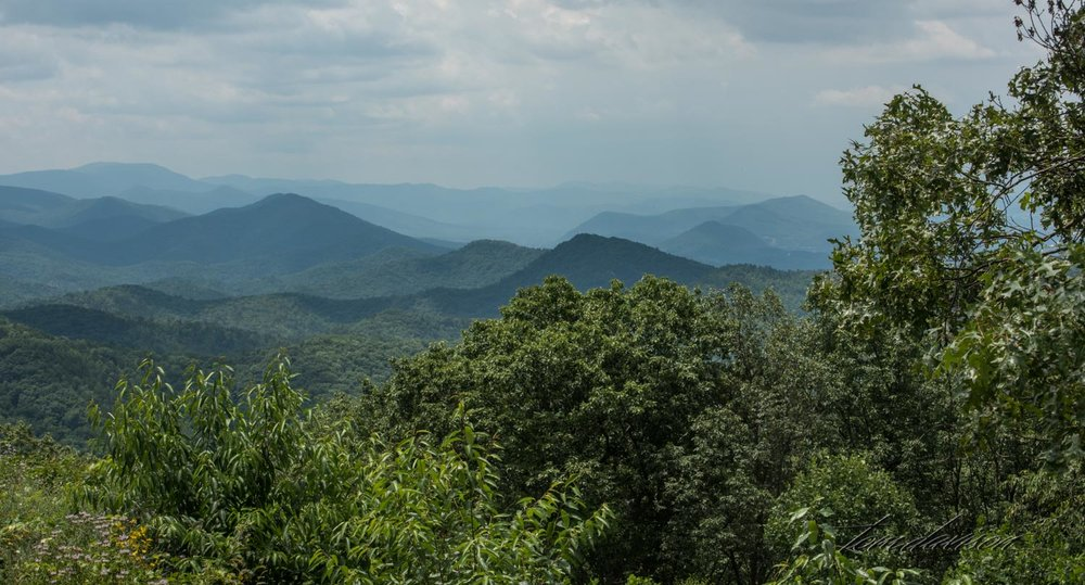 This is classic Blue Ridge Mountains!!  Ridges and ridges behind ridges!  All of them seem to have the blue hue and most often they appear as hazy.