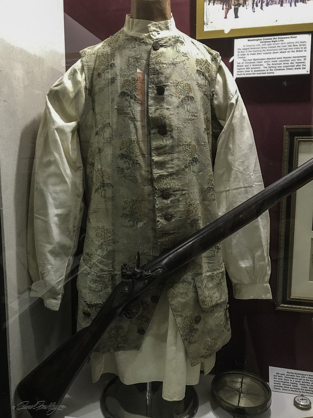 Shown is the Waist Coat worn by John Floyd while Governor of Virginia, 1830-1834. He was the father of John Buchanan Floyd who was the 31st Virginia Governor between 1849 and 1852.