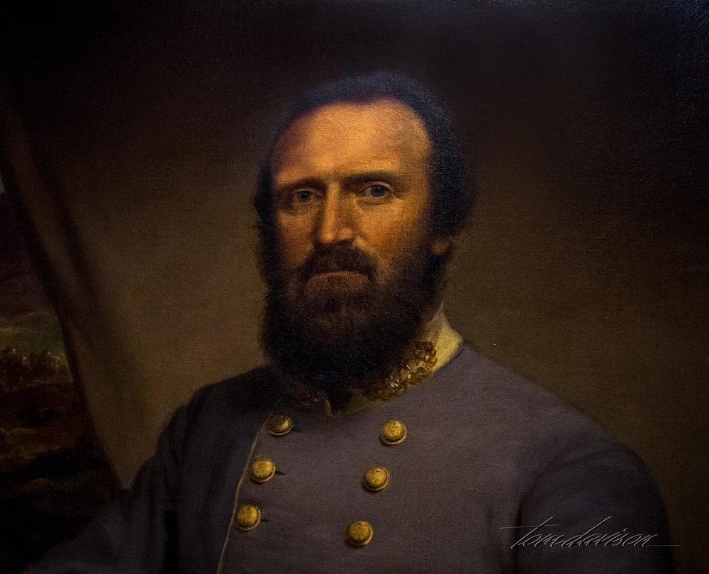 Portrait of Stonewall Jackson.