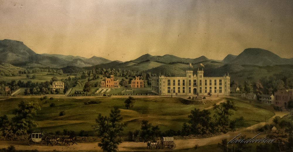 Painting of VMI in its early days.