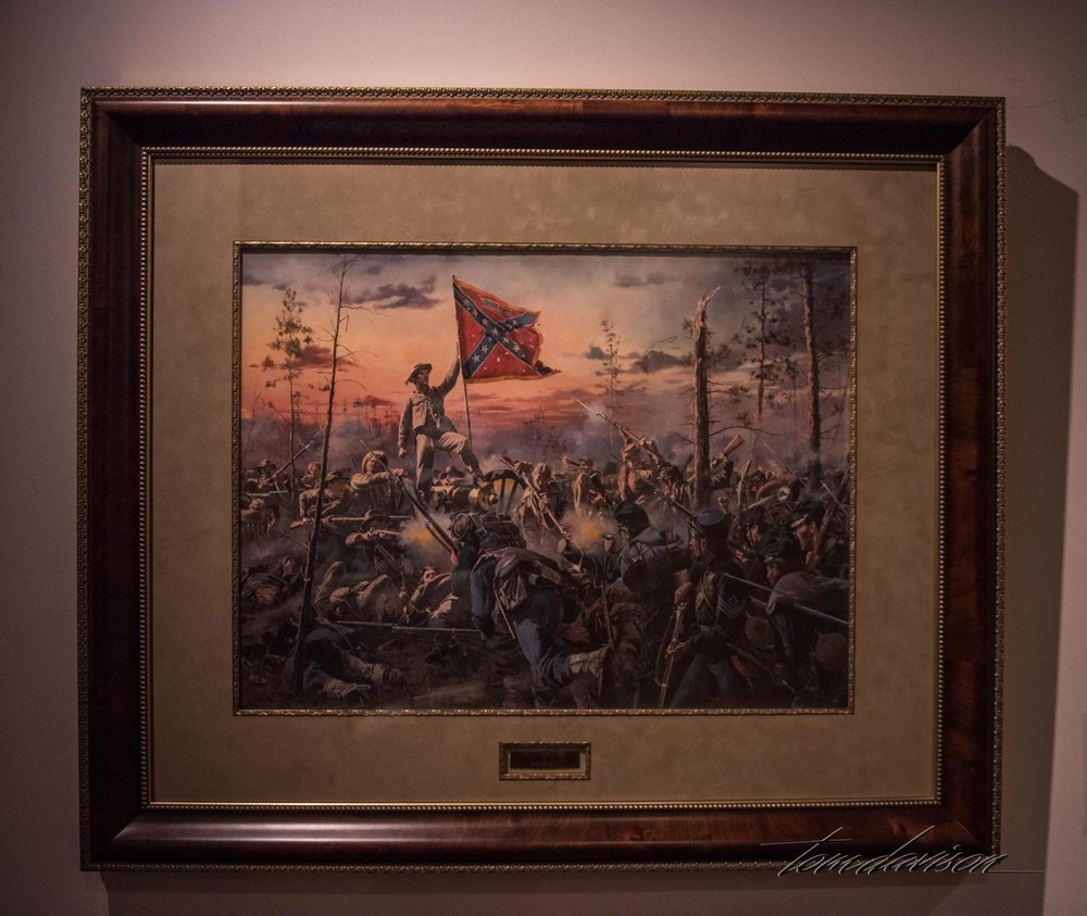 Painting honoring the role played by VMI cadets and graduates during the Civil War.