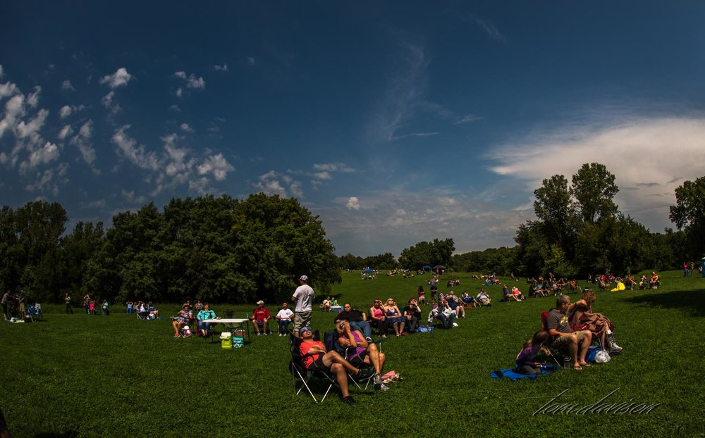 Just before totality.