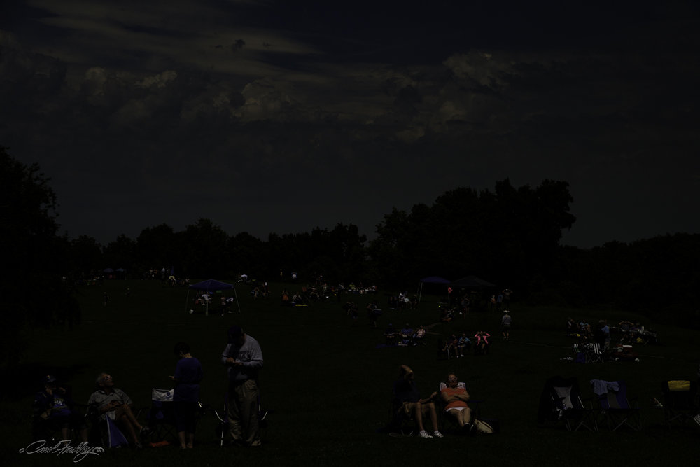 Just as Totality ended.