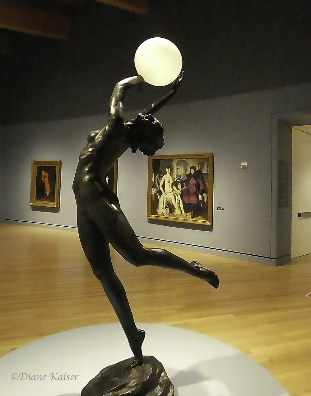 This is Harriet Whitney Frishmuth's (1880-1980)  The Bubble , made of bronze and glass in 1928.