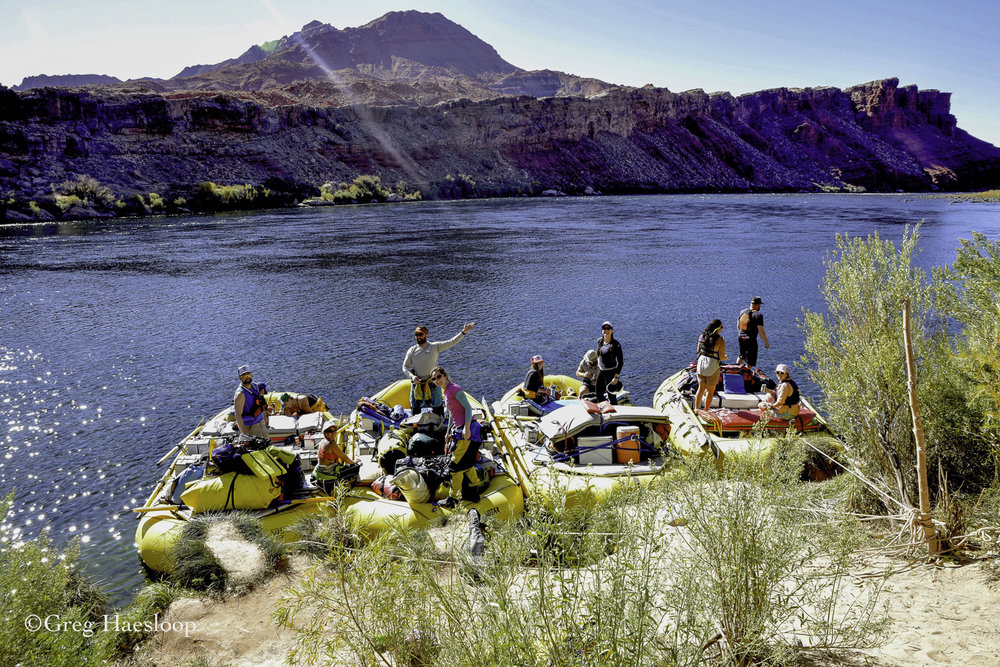 He talked to a group of folks preparing to raft 224 miles on the Colorado River.