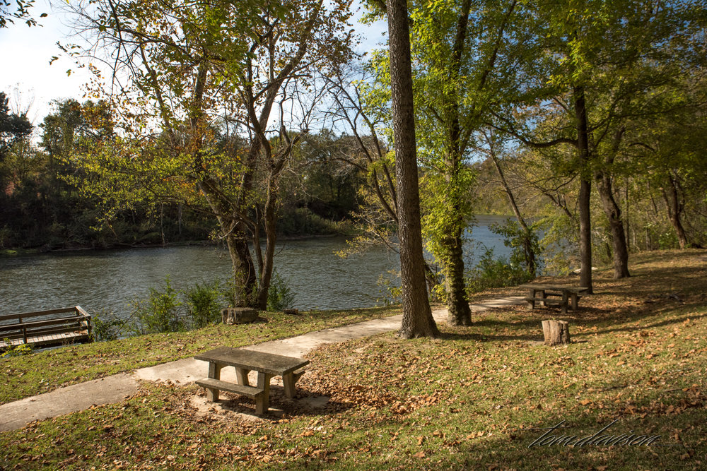 As above. Arkansas is called the Natural State and residents are encouraged to get out and experience the outdoors. Picnic places with fishing piers are very common.