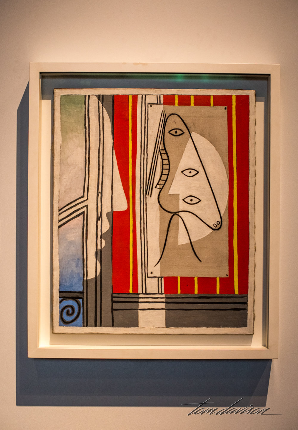 Figure and Profile,   Oil on canvas, 1928.
