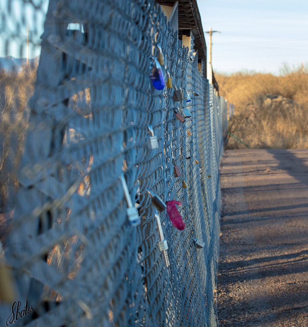 There were lots of locks on the fence. I believe they have significance but could not explain what it is.
