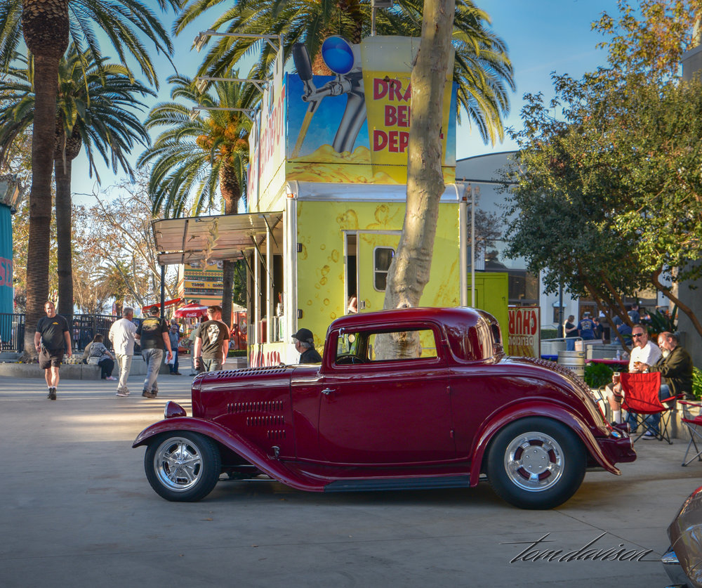 Classic deuce three window coupe hot rod.