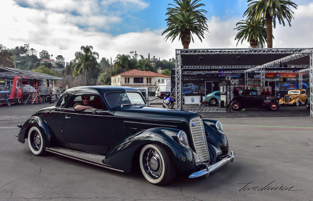 Hot rod created from massive 1937 Lincoln.