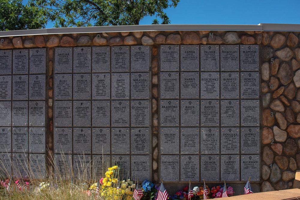 Wall tombs.