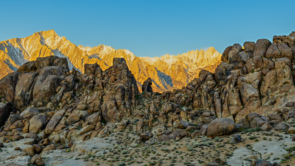 Alabama Hills in foreground with Sierra in the background