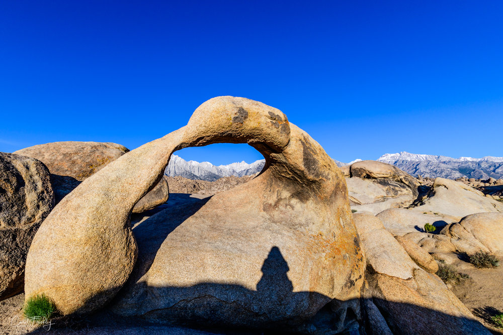 Yours truly trying for a different look to Mobius Arch in Alabama Hills (think 'scooch up on big rock)