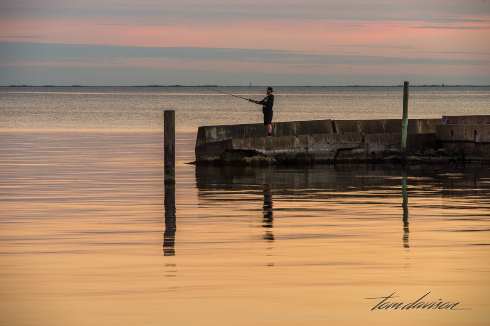Just about every time we went out to photograph the piers we saw people fishing.
