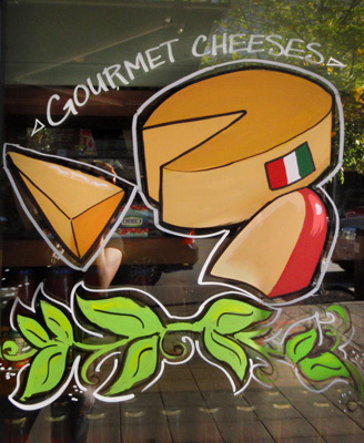 Window Painting for Casa Del Pane Deli & Bakery, Port Coquitlam