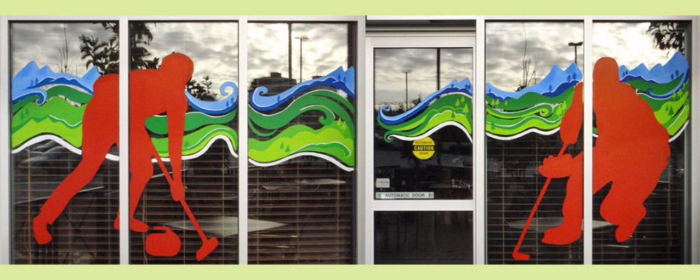 Window Painting for Mr Mike's Steakhouse, Surrey