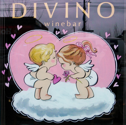 Window Painting for Divino Wine Bar, Vancouver
