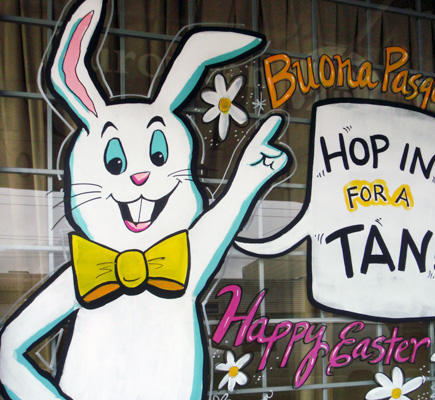 Window Painting For European Tanning Vancouver