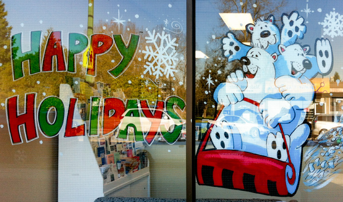 Window Painting for Raj Chouhan MLA Offices, Burnaby