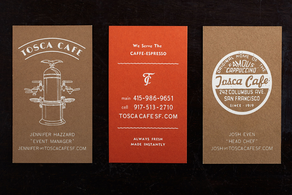 Tosca business cards