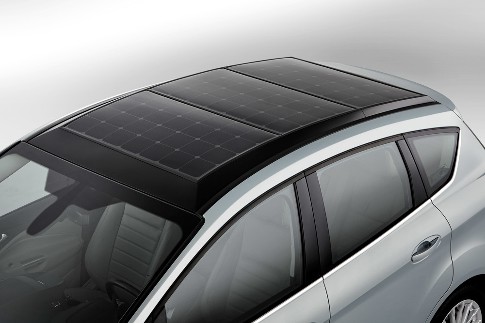 solar panels on roof - Ford c-max solar energi (CONCEPT)