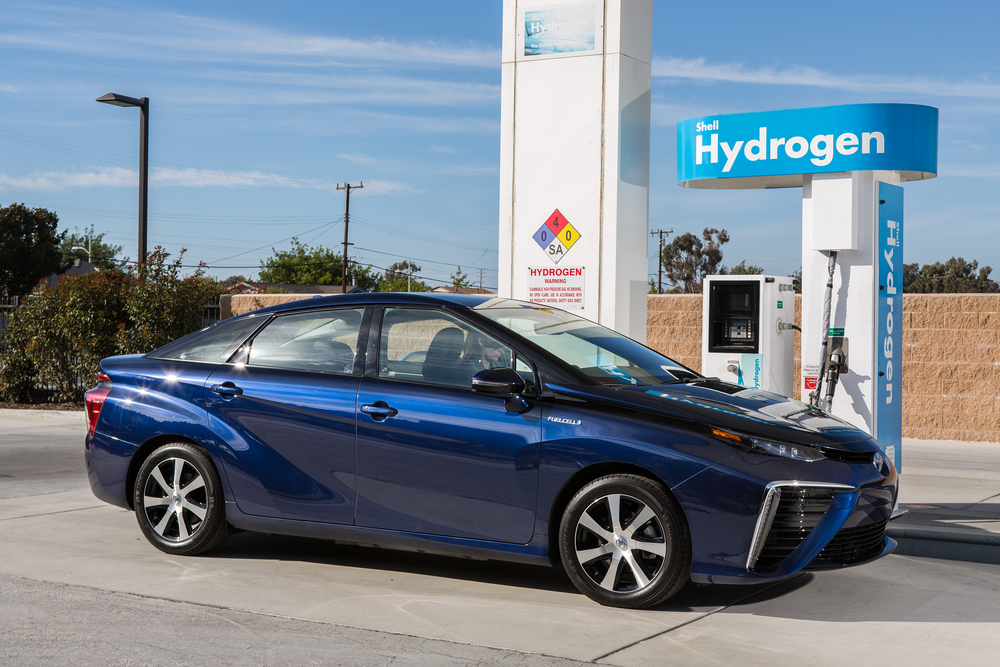 2016 Toyota Mirai FCEV - Charging at Hydrogen Fueling Station