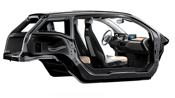 BMW i3 Life module - the passenger compartment of the vehicle, made completely out of carbon fibre reinforced plastic.  Photo Credit - BMW Group