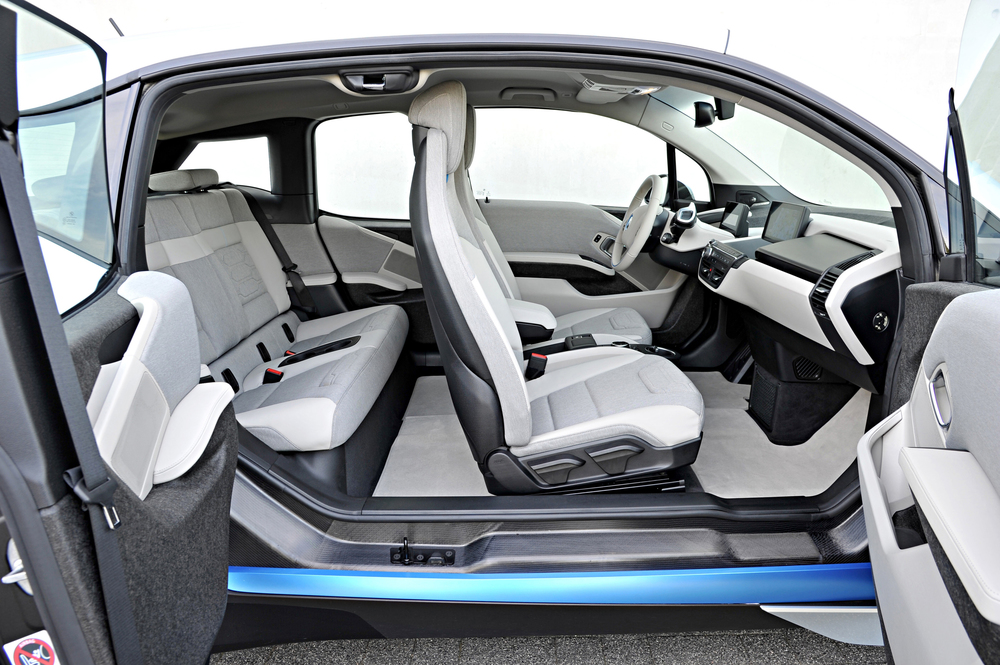 BMW i3 - seats tanned with olive oil extract.  Photo Credit - BMW Group