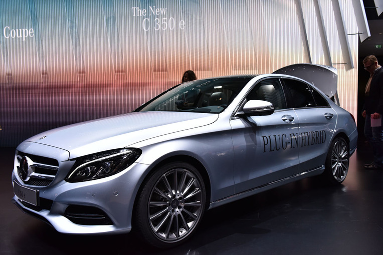 2016 Mercedes-Benz C350E Plug-in Hybrid. Presented at the 2015 Geneva Motor Show