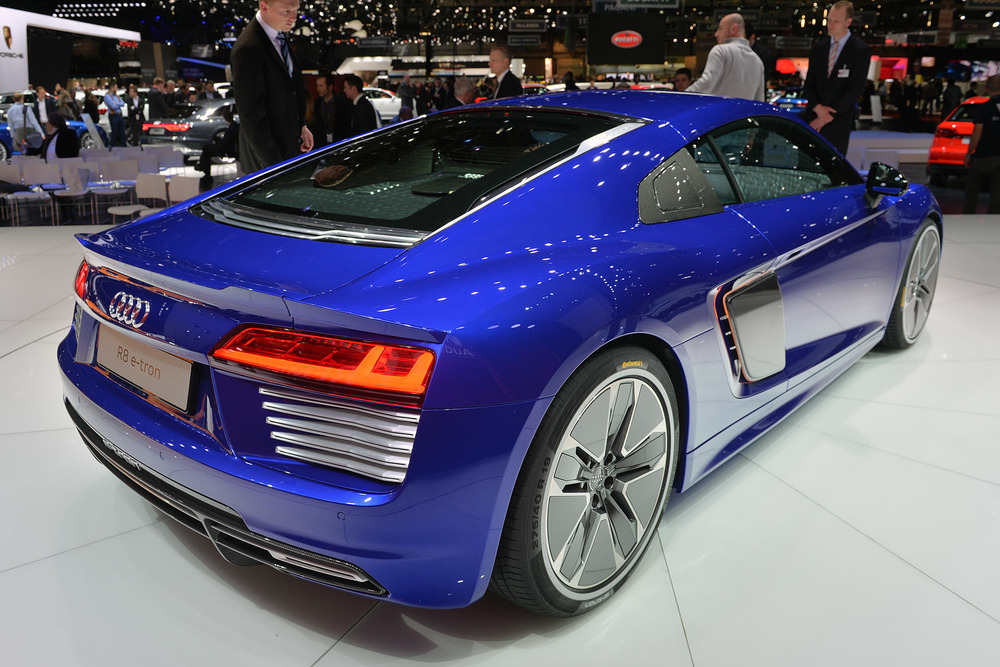 2016 Audi R8 e-Tron (aLL-eLECTRIC) - 2015 Geneva Auto Show. Photo Credit - Auto Blog