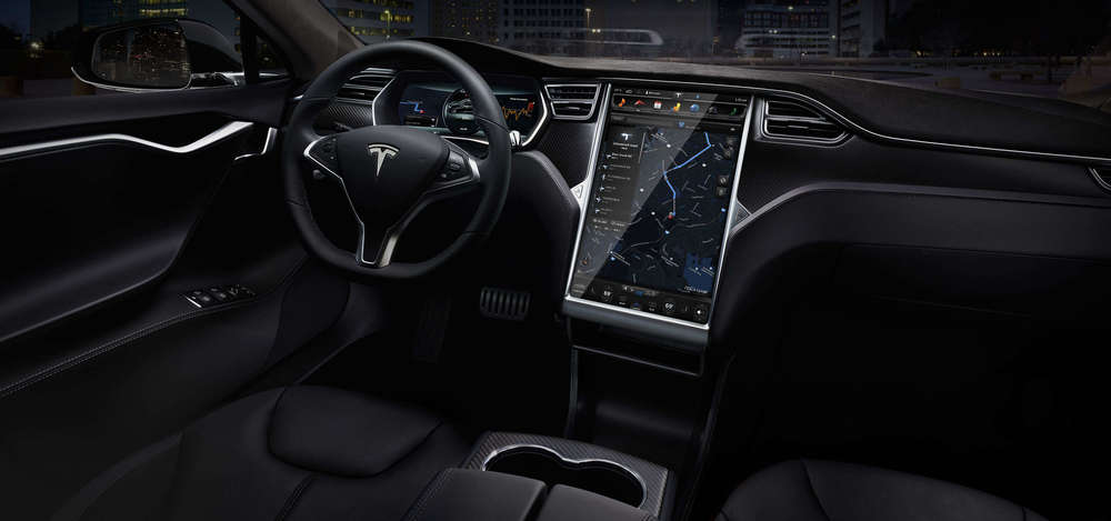 Tesla Model S Interior with its top-notch self-Updating computer system