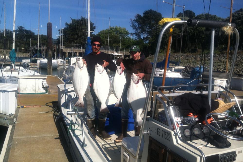Adam Sewall Adam Sewall (left in photo) is a fisherman out of San Francisco Bay, California.