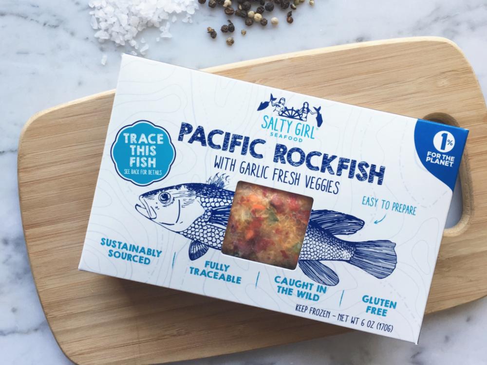 Pacific Rockfish with Garlic Fresh Veggies  - sustainable seafood