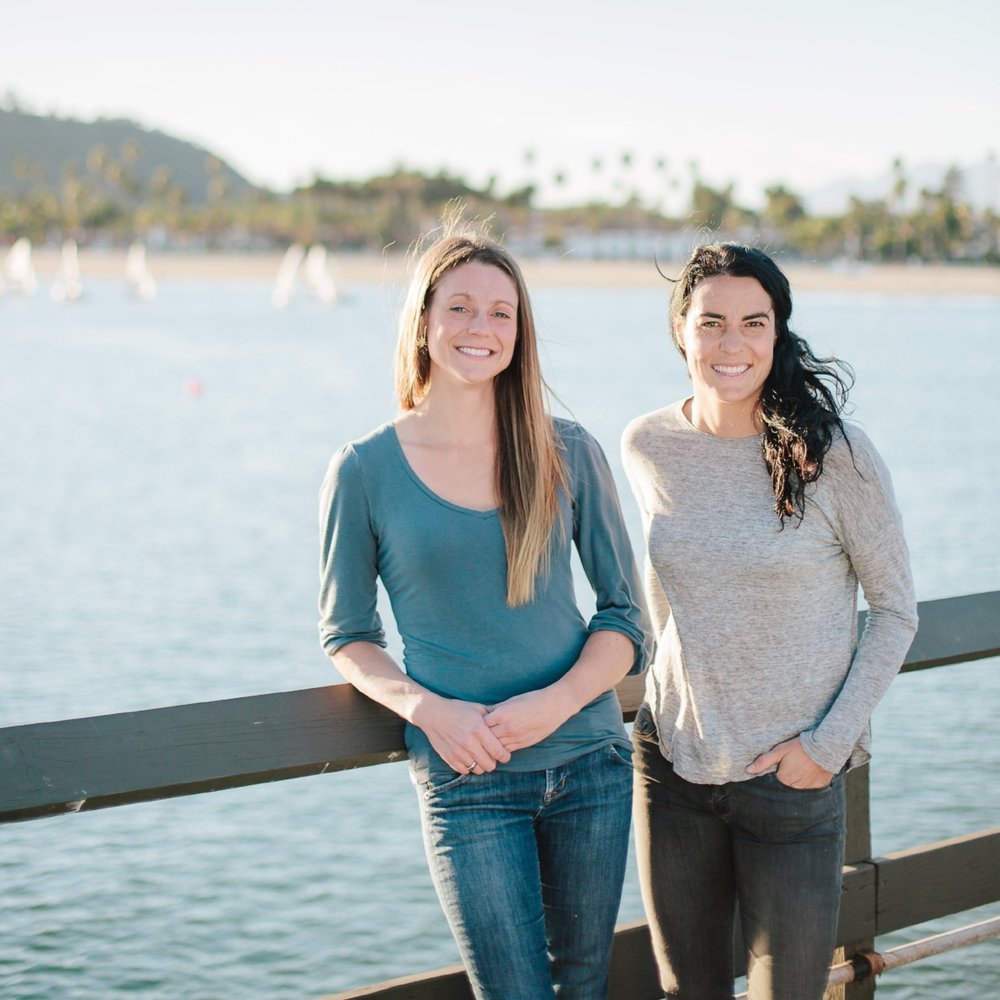 Salty Girl Seafood co-founders Laura Johnson (left) and Norah Eddy (right). Photo by Lerina Winter (Winter Creative Co).