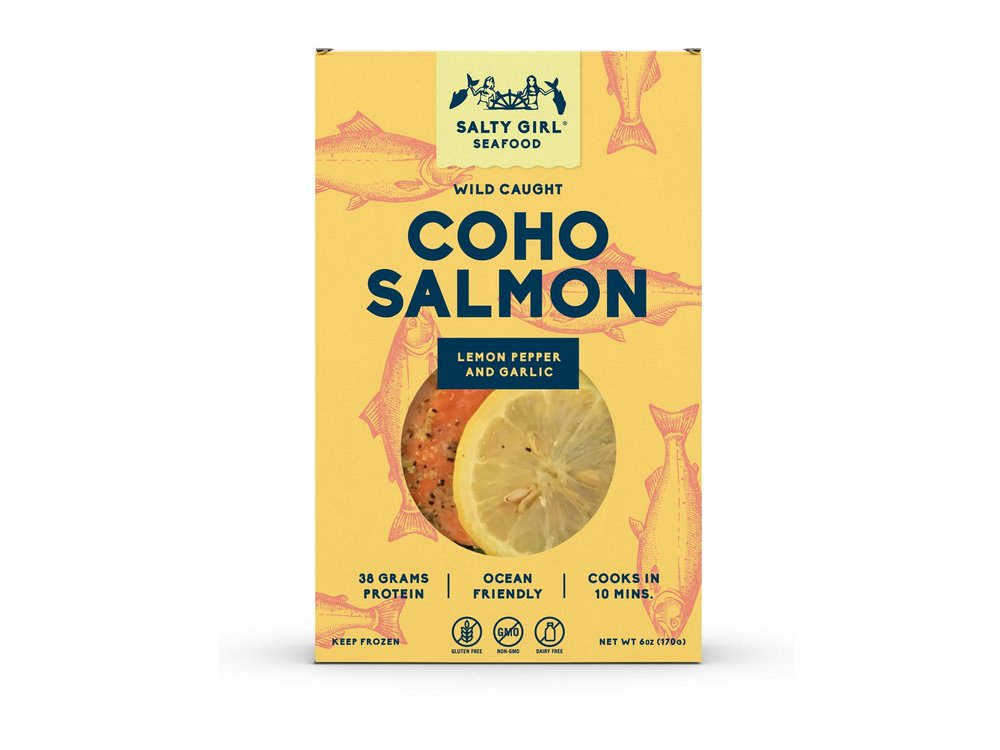 Coho Salmon with Lemon Pepper & Garlic  - sustainable seafood