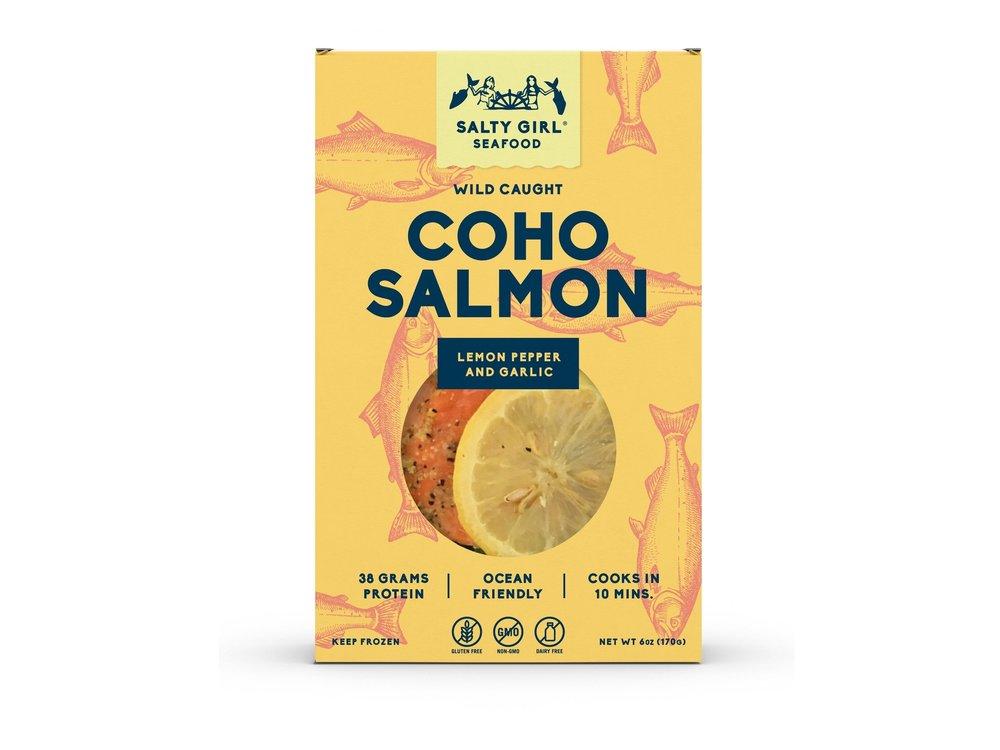Coho Salmon with Lemon Pepper & Garlic